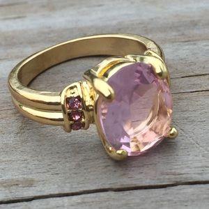 Jewelry - Pink Sapphire gold fashion ring w/ cz